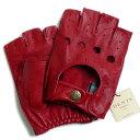 【送料無料】DENTSデンツ カットオフ ドライビング グローブ 5-1009 Berry(レッド)メンズ 手袋 半指指なし メンズ