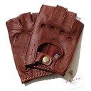 デンツ【送料無料】DENTS カットオフ ドライビング グローブ 5-1009 English Tan(ブラウン)メンズ 手袋 半指指なし メ…