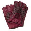 メローラ カットオフ ドライビンググローブ(ペッカリーボルドー) イントレチャート【イタリア製】MEROLA 手袋指なし …