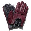 メローラ ドライビンググローブ ZU15bis(ボルドー/ネイビー)ラムナッパ【イタリア製】MEROLA 手袋 メンズ【手ぶくろ …