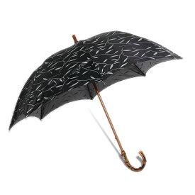 Maglia Francesco バンブーハンドル婦人傘(ブラック)イタリア製ハンドメイド マリアフランチェスコ レディース