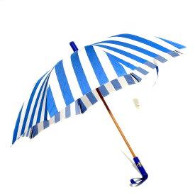 Maglia Francesco レザーハンドル婦人傘(ブルー)イタリア製ハンドメイド マリアフランチェスコ レディース0604