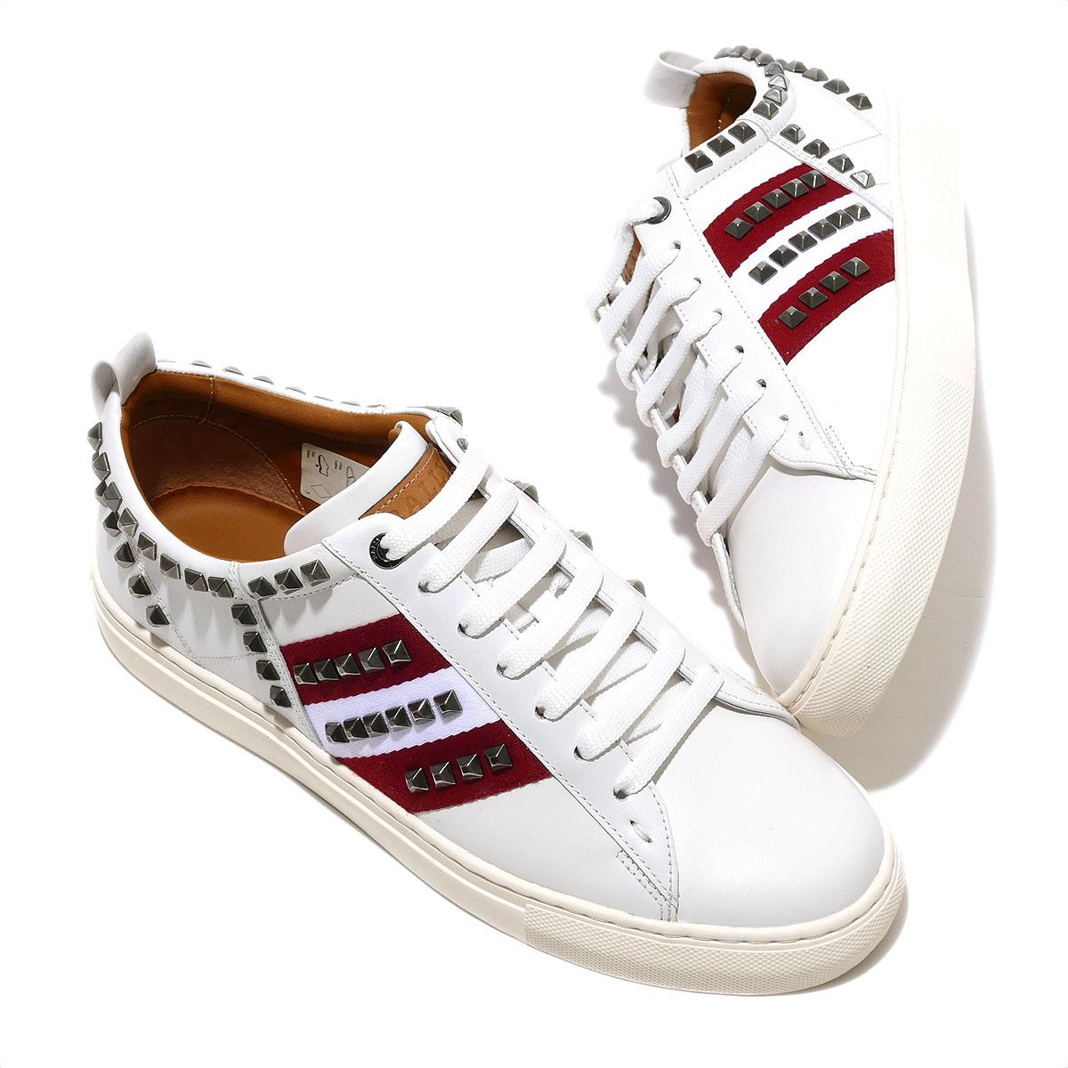 バリー レザースニーカー(ホワイト)Bally HELVIO B Sneakers メンズ