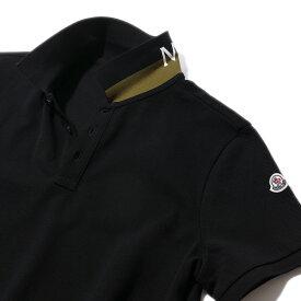 モンクレール 鹿の子 ポロシャツ83051 999ブラック メンズ【トップス ポロシャツ 半袖 クールビズ おしゃれ 夏服 メンズ 誕生日プレゼント】MONCLER