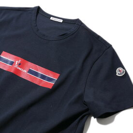 モンクレール プリントTシャツ8037150 773ネイビー メンズ【トップス Tシャツ 半袖 おしゃれ メンズ 】MONCLER