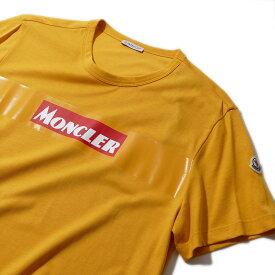 モンクレール2019-20AW クラシックロゴ プリントTシャツ8048450 340イエロー メンズ【トップス Tシャツ 半袖 おしゃれ 夏服 メンズ】MONCLER ブランド ギフト