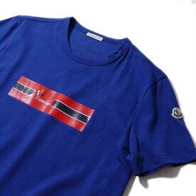 モンクレール プリントTシャツ8037150 738ブルー メンズ【トップス Tシャツ 半袖 おしゃれ メンズ 】MONCLER