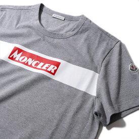 モンクレール2019-20AW クラシックロゴ プリントTシャツ8048450 987グレー メンズ【トップス Tシャツ 半袖 おしゃれ 夏服 メンズ】MONCLER
