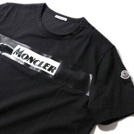 モンクレール2019-20AW クラシックロゴ プリントTシャツ8048450 999ブラック メンズ【トップス Tシャツ 半袖 おしゃれ 夏服 メンズ】MONCLER
