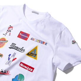 モンクレール2019-20AW プリントTシャツ 800265 001ホワイト メンズ【トップス Tシャツ 半袖 おしゃれ 夏服 メンズ】MONCLER