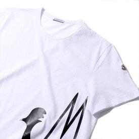 モンクレール2019-20AW プリントTシャツ 804615 001ホワイト メンズ【トップス Tシャツ 半袖 おしゃれ 夏服 メンズ】MONCLER
