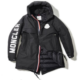 モンクレール ダウンジャケット CHARNIER 999ブラック MONCLER メンズ 2019/20AW ロングダウンコート