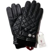 英国デンツキルティングレザーグローブDENTS5-9053ブラックウール裏地メンズ手袋【送料無料】本革レザー