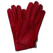 メローラドライビンググローブNEW2020(ネイビー/レッド)ラムスエード裏地なし【イタリア製】MEROLA手袋メンズ【手ぶくろ男性用】革ブランドギフト