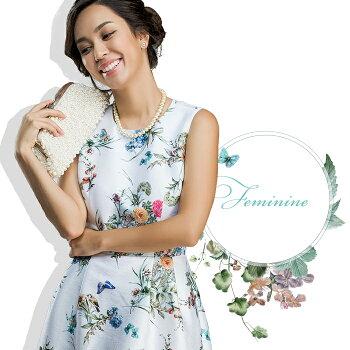 【新作】高級感溢れる花柄ワンピース[NO.12-82-172](15033)ワンピース・レディース・フォーマル・パーティードレス結婚式ワンピース・フォーマル・ワンピース結婚式・花柄ワンピース