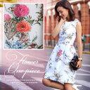 ドレス ワンピース 花柄ワンピ フォーマル パーティードレス 結婚式 花柄 フォーマルワンピース フォーマルドレス 二…