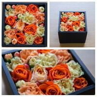 フラワーボックスブラック敬老の日フラワーボックス花ギフト生花アレンジメントプレゼントサプライズお祝い誕生日記念日母の日ライムピンクレッドオレンジホワイトグリーン