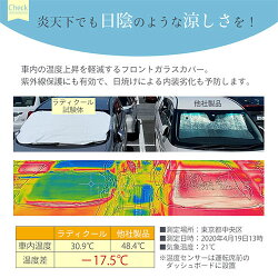 カーシェード・サンシェード・放射冷却・UV対策・日差しカット・温度上昇軽減・はっ水・取り付け簡単・エコ・ホワイト・コンパクト収納・おしゃれ