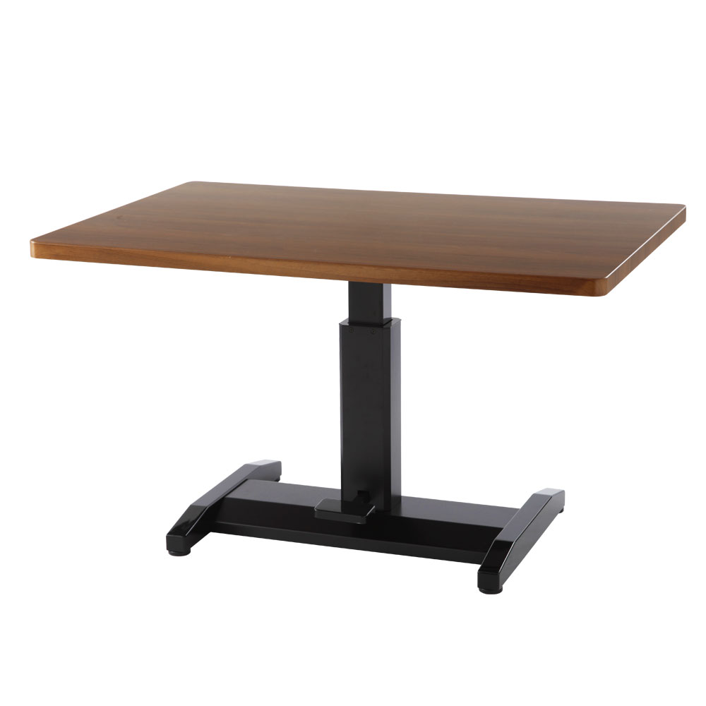 <クーポンで7,360円引き> 昇降式テーブル リフティングテーブル ダイニングテーブル リビングテーブル カフェテーブル 送料無料 机 つくえ 作業台 高さ調節 ガス圧 伸縮 リフトテーブル 120 北欧 おしゃれ ホワイト ブラック ウォールナット ナチュラル 白 黒