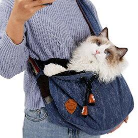 ペットバック 犬猫ショルダーバッグ スリングバッグ 小型犬猫用キャリーバッグ 抱っこバッグ 猫犬