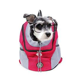 キャリーバッグリュック ペットバッグ 猫・小型犬 抱っこひも 折りたたみ 飛び出し防止 Lサイズ