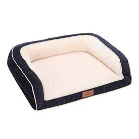 EMME 大型犬用ペットソファー 豪華な ペットベッド ペットクッション マットレス 3面枕付きMサイズ 寝心地抜群 耐噛み用寝床