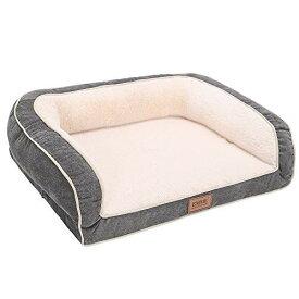 EMME 中型犬用ペットソファー 豪華な ペットベッド ペットクッション 犬夏用マットレス 3面枕付き 寝心地抜群 耐噛み用寝床