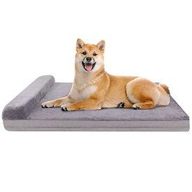 ペットベッド 犬マット クッション性が抜群 足腰の弱いペットに最適 暖かい 老犬に 子犬 多頭飼う 枕付き