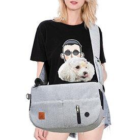 Purrpy 猫スリング 猫抱っこ紐スリングバッグ 折りたたみ可猫小型犬スリング 軽いペットスリングバッグ 旅行 通院 散?