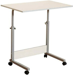 スタンディングデスク 幅80×奥行50cm 昇降式テーブル キャスター付き ノートパソコンスタンド