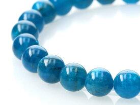 ブルーアパタイト ブレスレット 8mm玉 No.27 パワーストーン 天然石 フォレストブルー【画像現物】