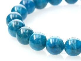 ブルーアパタイト ブレスレット 10mm玉 No.30 パワーストーン 天然石 フォレストブルー【画像現物】