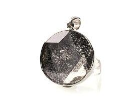 ギベオン隕石 六芒星 ペンダントトップ Mサイズ シルバー(SV925) パワーストーン 天然石 フォレストブルー能力開花 成功 ビジネス運 金運 宇宙のエネルギー 叡知 貴重石