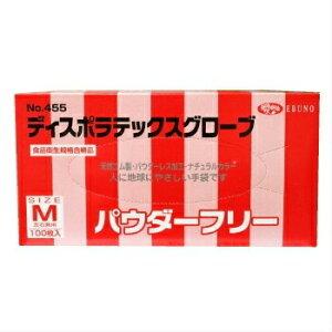 業務用 使い捨て手袋 粉無し 食品衛生規格合格品 ディスポラテックス グローブ S・M 100枚入 食品衛生法対応天然ゴム 在庫あります