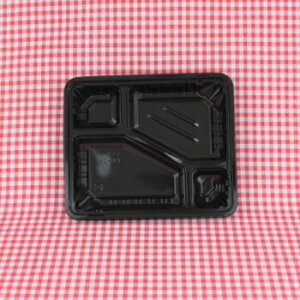 CKー2ー1 黒 透明蓋付 50入 弁当容器 弁当パック テイクアウト ランチボックス レンジ対応 業務用
