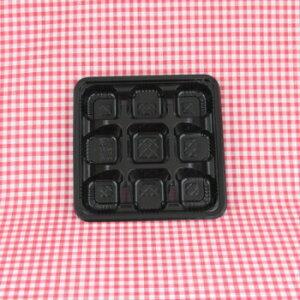 CRー5ー2 黒 透明蓋付 50入 弁当容器 9仕切り テイクアウト オードブル レンジ対応 業務用