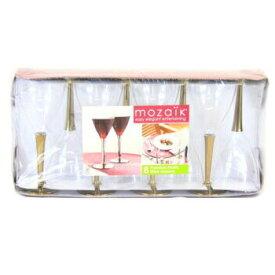 使い捨て ワイングラスゴールド 8入 ハロウィン・クリスマス・パーティーやイベントに 割れない グラス プラスチックグラス