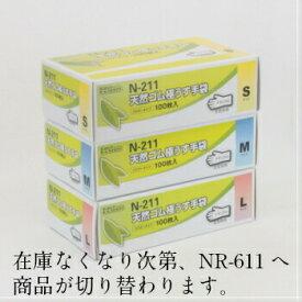 天然ゴム極うす手袋 S・M・L ナチュ 100入
