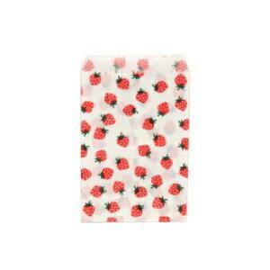 平袋 5号 いちご 200枚入り レターパック対応 デニッシュ 紙袋 柄付 業務用 包装資材