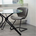 ダイニングチェア おしゃれ ファブリック 椅子 イス チェア ダイニングチェアー グレー 幅51cm 高級 モダン ナチュラル キャンチレバー クラスティーナ 3年保証 いす 家具 インテリア 北欧 ダイニング シンプル