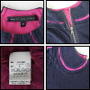 MARC BY MARC JACOBS (mark by mark Jacobs) folded neckpiece of haori design short sleeves cut-and-sew navy x rose pink XS