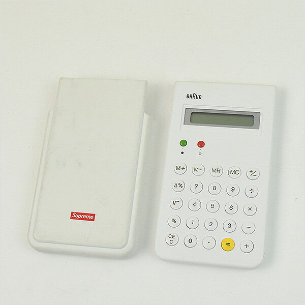 【中古】Supreme シュプリーム ×Braun 15AW ET66 Calculator 電卓 ブランド ホワイト【送料無料】