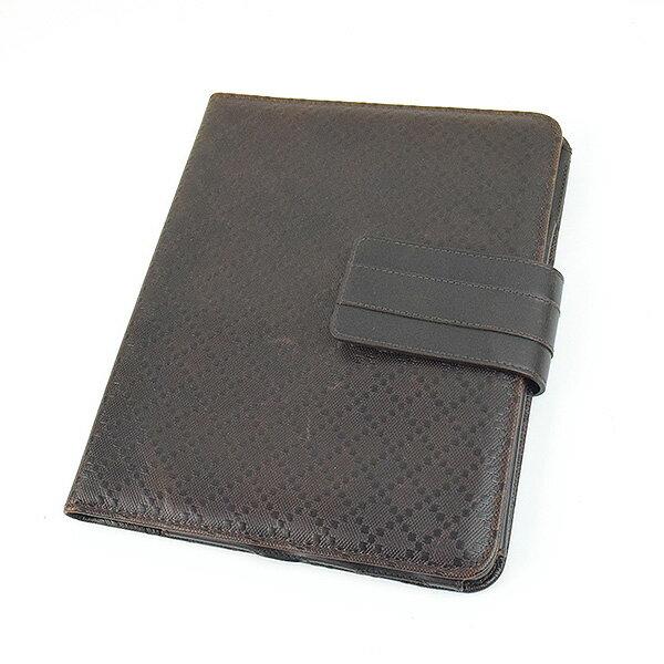 【中古】GUCCI グッチ iPadケース 小物 ブランド ブラウン