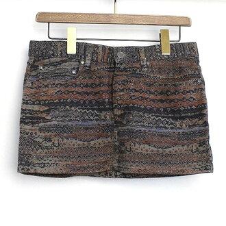 ♦ SEE BY CHLOE (see by Chloe) pattern skirt Brown 38 ♦ b