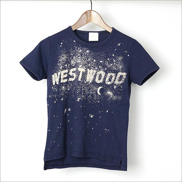 Vivienne Westwood GOLD LABEL ヴィヴィアン ウエストウッド ゴールド レーベル Milky Way ビジュー装飾Tシャツ ネイビー サイズ表記タグなしの為、サイズ詳細不明【中古】