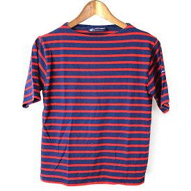 SAINT JAMES セントジェームス ボーダーTシャツ ネイビー 32【中古】