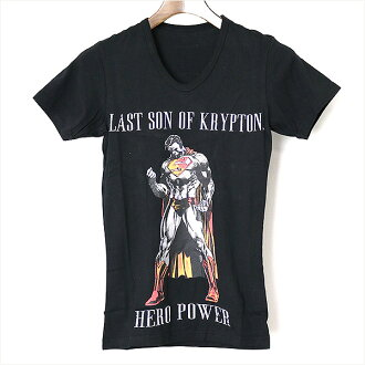Roen roen SUPERMAN HERO POWER V Neck T shirt black XS