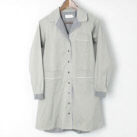 FACTOTUM ファクトタム 背面切替パイピングシャツコート カーキ 36【中古】