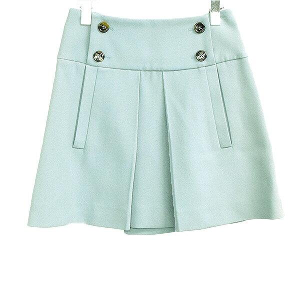 【中古】Chloe クロエ デザインスカート レディース グリーン 34
