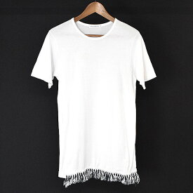 【中古】J.W.ANDERSON ジェイダブリューアンダーソン 裾フリンジデザインTシャツ レディース ホワイト 36